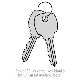 Commercial 1199 Universal Key Blanks for Universal Lock-Box
