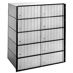 Commercial 2210 10 Door Aluminum Standard Mailboxes