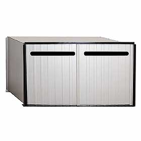 Commercial 2282 Aluminum Drop Box - 2 Compartments
