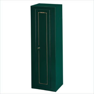 Stack-On Safes Security Plus 10 Gun Steel Green Security Cabinet with Key Lock