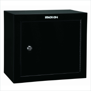 Stack-On Safes Security Plus Steel Pistol and Ammo Key Lock Cabinet in Black
