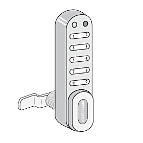 Lockers 33390 Electronic Lock for Designer Locker