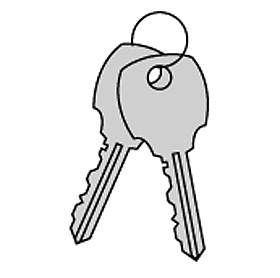 Commercial 3599 Key Blanks for Standard Lock of Vertical Mailbox