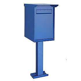 Commercial 4275 Pedestal Drop Box with Durable Powder Coated