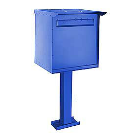 Commercial 4276 Pedestal Drop Box with Durable Powder Coated