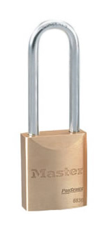 Master Lock 6830LT Pro Series Solid Brass Rekeyable Padlock