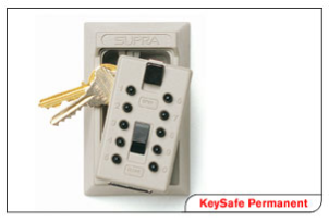 Key Boxes permanent pushbutton combination key box