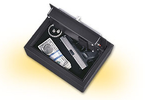Handgun safes electronic drawer safe wall mount pistol box