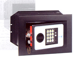"Wall Safes : 6"" deep automatic locking digital wall safe"