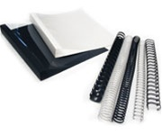 9/16'' 19 Ring Plastic Comb Binding (100 Pcs/Box)