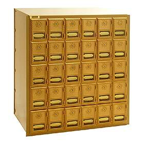 Commercial 2030RL 30 Door Brass Mailbox with Rear Loading