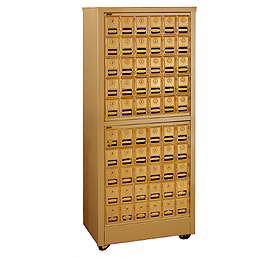 Commercial 2350 Free Standing Mail Centers with Brass