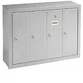 Commercial 3504 4 Door Aluminum Vertical Mailboxes