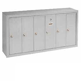 Commercial 3506 6 Door Aluminum Vertical Mailboxes