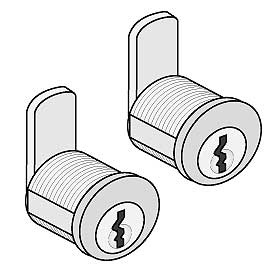 Comm 4390 Lock Std Replacement Locks w/ 2 Key for Mail Pkg Drops