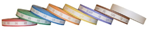 Currency Bill Strapping Case of Mixed ABA Colors (1 Roll of Each Color)