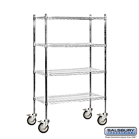 "Residential 9534M-CHR with 4 Posts 5"" Locking Casters"