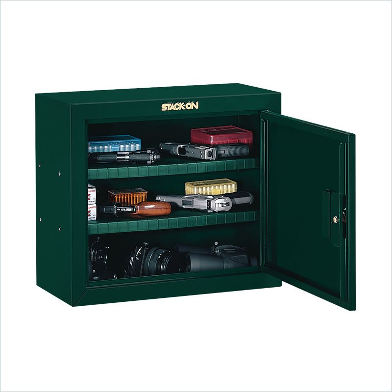 Stack On Safes Security Plus Steel Pistol And Ammo Key Lock Security Cabinet