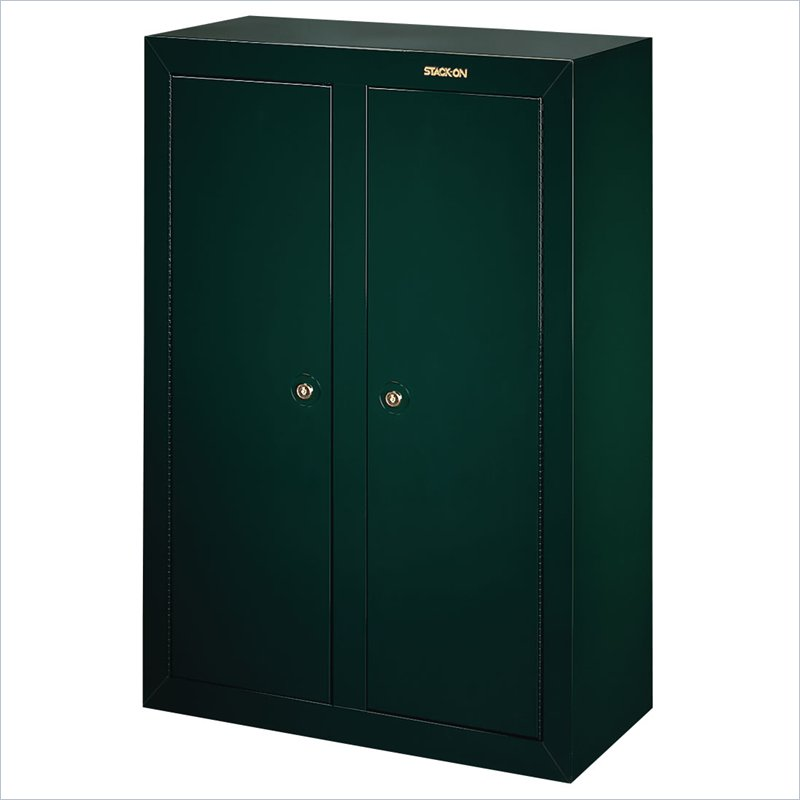 Stack on safes security plus 16 gun convertible double for 16 31 gun convertible double door steel security cabinet