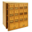 Commercial 2014FL 14 Door Brass Mailbox with Front Loading