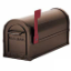Residential Antique Rural Mailbox with Extruded and Die Cast Alm