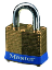 Master Lock 82 No. 82 Laminated Brass Pin Tumbler Padlock