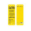 Master Lock S4701 Yellow Caution Scaffolding Tag