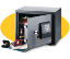 Sentry safe electronic security  with 4 bitted key lock