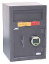 Front loading depository safe with electronic key pad